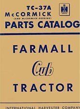 Farmall McCormick Cub Tractor Parts Catalog No. TC-37A