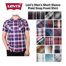 Levi'S мужская с коротким рукавом застежка спереди, рубашка