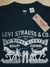 Levi's T-Shirt Blue 2 Horse Pull New with Tags size: XS FREE SHIPPING