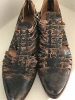 BED STU Las Cruces US 8/ EU 38 Women's Leather Huaraches Taupe Rustic NEW
