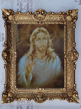 Gemälde von Carlo Parisi Jesus Christus Wand Bild mit Rahmen BAROCK 56x46 cm NEU