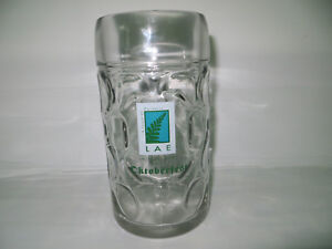 """1 Litre Large Heavy Glass """"LAE International Hotel"""" Germany Beer Stein..Like New"""