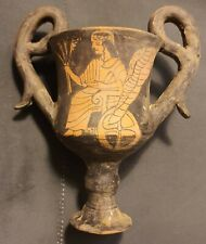 Very rare Greek , Pottery Thracian Kantharos, Clay, Painted, Red Figured c 6-4cB