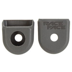 RaceFace Crank Boots: For Carbon Cranks 2-Pack Gray