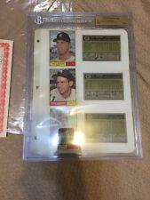 1961 Topps MLB File Copy Page Phil Regan Luis Aparicio Dick Bertell Cards