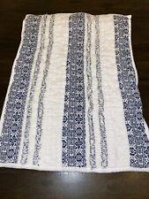 Opalhouse Standard Chenille Stripe Pillow Sham - White & Blue
