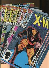 Uncanny X-Men 207,208,209,211,212,213 *7* 1st Marauders & Wolverine V Sabretooth