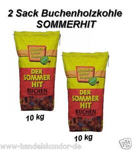 2 Sack  Buchenholzkohle SOMMERHIT Holzkohle Buchengrillholzkohle Grill-Holzkohle
