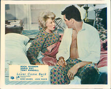 LOVER COME BACK ORIGINAL LOBBY CARD ROCK HUDSON OPEN SHIRT DORIS DAY RARE