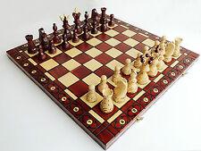 Nuevo Grande Hecho a mano Sycamore AMBASSADOR Juego de ajedrez de madera 54cm