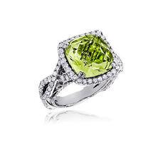 Joya De Oro Anillos Diamantes Wesselton 14 K Oro Blanco 585 12,30 Quilates Nuevo