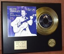 Elvis Presley - Blue Suede Shoes 24k Gold Record Display - Free Shipping In USA