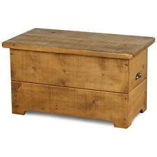 SOLID WOOD BEDDING BOX TOY BOX CHEST BENCH BLANKET RUSTIC PLANK Indigo Furniture
