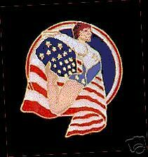 American Gymnast Lapel Pin - Bold & Patriotic Mary Lou Retton Design