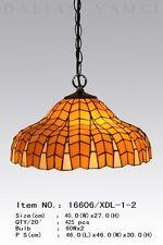 Tiffanylampe Tiffany Deckenlampe Hängelampe Wohnzimmerlampe gelb neu pastell 32M