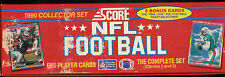 1990 SCORE FOOTBALL COMPLETE OPENED FACTORY SET (665) 1-660 + 5 BONUS CARDS