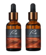 Pure Vitamin C Serum Collagen Booster with Hyaluronic Acid - 2 pack - 2x30ml