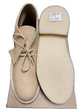 Clarks Originals, Desert Boot. Off White Leather, Size 6.5 UK