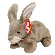 TY Beanie Baby - NIBBLY the Brown Rabbit (6 inch) MINT WITH ALL TAGS 1998