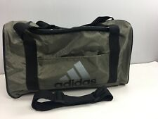 "Adidas Duffle Bag 18"" Travel Gym Shoulder Strap Olive Black 100% Nylon"