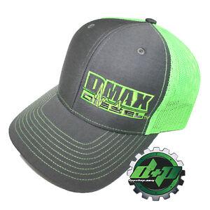Dmax Duramax richardson 112 hat truck Charcoal Gray GREEN mesh snap back