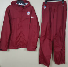 NIKE NFL FOOTBALL STORM-FIT RAINSUIT JACKET + PANTS MAROON RED NEW (SIZE MEDIUM)