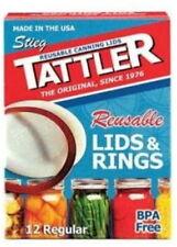 Tattler Indefinitely Reusable Regular Canning Lids  BOX of 12 FREE SHIPPING USA!