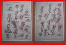 """FRANQUIN - OFFSETS CRAYONNES """"MODESTE & POMPON"""" (1988) MAGIC-STRIP/LE LOMBARD"""