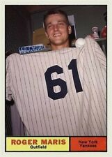 ROGER MARIS 61 HOLDING UP A #61 JERSEY ACEO ART CARD ##FREE COMBINED SHIPPING##
