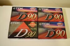 4 TDK High Output Blank Cassette Tapes D90 IECI Type I High Precision