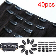 40x U Shape Steel Snap Clips For Feather Hair Extensions Wigs Weft Feather new.