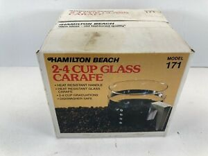 Hamilton Beach  Replacement 2-4 Cup Glass Crafe Old New Stock