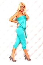 Womens Sexy Jumpsuits One-piece Strapless Stretchy Romper Knee M-6-8 Fitted