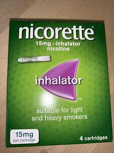 Nicorette inhalator 4 x 15mg cartridges + 1 x Inhalator