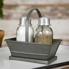 Galvanized Metal Tote With Mason Jar Shakers