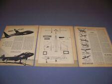 VINTAGE..VOUGHT F7U CUTLASS ..HISTORY/PHOTOS/DETAILS/3-VIEWS..RARE! (515G)