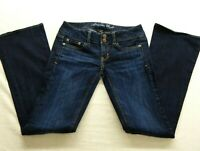 New American Eagle Sz 0 Reg Artist Stretch Boot Dark Wash Denim Womens Jeans