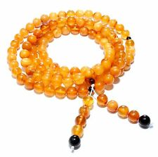 Genuine Baltic Amber Buddhist Mala Bracelet Mila 108 Beads 8 mm Prayer Mixed