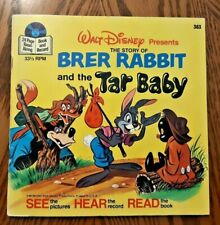 1977 Brer Rabbit And The Tar Baby Book Walt Disney No Record Good Condition