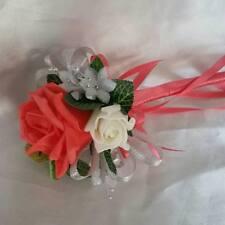 Bridal Wedding Wand Artificial Rose Bridesmaid Flower-Girl Hearts Bouquet