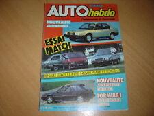 Auto hebdo N°426 Colt Gti Turbo. Espace.Giulia TZ