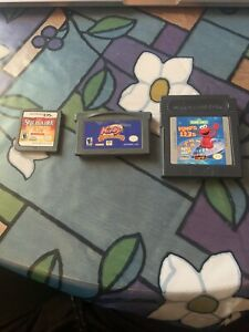 Nintendo Working Gane Boy Advance Kirby & The Amazing Mirror Elmo 123 & Solitare