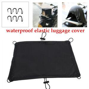 Motorcycle Bike Trunk Seat Rear Rack Luggage Elastic Helmet Cover Waterproof Kit