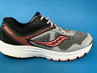 WOMENS SAUCONY GRID COHESION 10 GRAY BLACK CORAL RUNNING SHOES SIZE 7