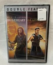 "Double Feature ""Braveheart"" ""Gladiator"" New Dvd Set Sealed in Package"