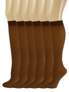 Sumona 6 pairs Pack Women Opaque Spandex Queen Size Trouser Knee High Socks