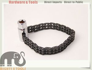 "Cr-V 1/2"" Dr. Oil Filter Wrench w 5-layer Double Chain Sleeve Cap: Dia 60-120mm"