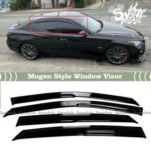 FITS 2014-2021 INFINITI Q50 JDM 3D MUGEN STYLE WINDOW VISOR RAIN GUARD VENT 4PC