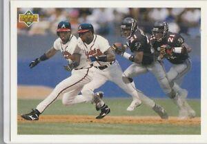 DEION SANDERS Football Baseball 1992 Upper Deck ATLANTA BRAVE FALCONS #SP3 CARD!