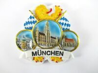 Magnet München Frauenkirche Rathaus Polyresin, Souvenir Deutschland Germany *